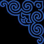 mongol pattern corner