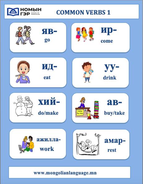 Common Mongolian Verbs 1