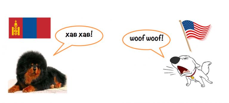 Cartoon Mongolian Dog Sounds Nomiin Ger